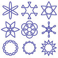 Celtic knot collection Stock Photo