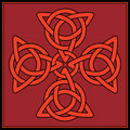 Celtic knot Cross Royalty Free Stock Photos