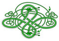 Celtic knot dragon; Royalty Free Stock Photography