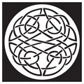 A celtic knot and pattern in a circle design Royalty Free Stock Images