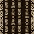 Celtic knot seamless pattern