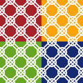 Celtic knot seamless pattern color variations Royalty Free Stock Photography
