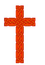 Celtic knot style cross isolated bright version of traditional design Royalty Free Stock Photo
