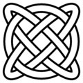 Celtic knot symbol eternal life infinity, vector amulet symbol longevity and health, symbol of mental health and well