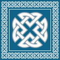 Celtic knot,symbol represents four world elements,vector Royalty Free Stock Photo