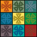 Celtic knot tile Royalty Free Stock Image