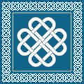 Celtic love knot,symbol of good fortune,vector illustration