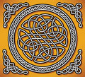 Celtic love ornament gordian knot vector illustration of Stock Photography
