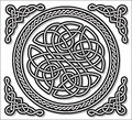 Celtic love ornament gordian knot vector illustration nordic Royalty Free Stock Photography