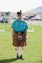 Celtic man dressed in costume at the rio grande valley festival in albuquerque new mexico Royalty Free Stock Image
