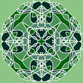 Celtic ornament abstract round green pattern like as Royalty Free Stock Image
