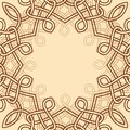 Celtic ornamental design element Royalty Free Stock Images