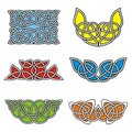 Celtic ornamental designs Stock Images