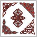 Celtic ornamental designs Stock Photo