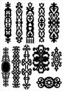 Celtic ornate elements Stock Images