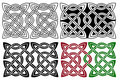 Celtic pair knots Royalty Free Stock Image