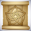Celtic pentacle Royalty Free Stock Photos
