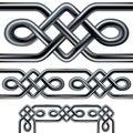 Keltský lano bezšvový ohraničený dizajnérsky návrh roh