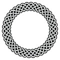 Celtic round frame, border pattern - vector Royalty Free Stock Photo