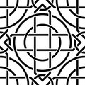 Celtic seamless pattern the vector image Stock Photos