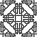 Celtic seamless pattern the vector image Royalty Free Stock Photo