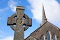 Celtic Stone cross Royalty Free Stock Photos
