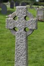 Celtic Stone Cross. Stock Photos