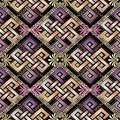 Celtic style abstract 3d greek seamless pattern.