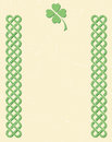 Celtic style knot borders