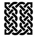 Celtic style rectangle element based on eternity knot patterns in black on white background inspired by Irish St Patrcks day