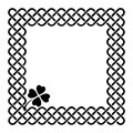 Celtic style shamrock frame