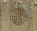 Celtic symbol knot of the eternal return Stock Photo