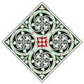 Celtic tile ornament inspiret in real floor at saint chapelle in paris Royalty Free Stock Images
