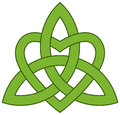 Celtic trinity knot with a heart triquetra Royalty Free Stock Photography
