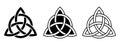Celtic trinity knots. Vector illustration.