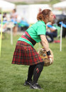 Celtic woman sheath toss competes in event at the rio grande valley festival in albuquerque new mexico Royalty Free Stock Photography