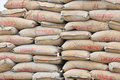 Cement bags Stock Image