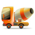 Cement carrier cartoon truck concrete construction equipment Royalty Free Stock Photography