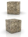 Cement cubes Royalty Free Stock Photo