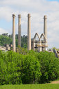Cement industry industrial plant for the production of for construction Stock Photo