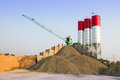 Cement mexing plant aria of mixing working Royalty Free Stock Photo