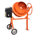 Cement mixer orange on white background Royalty Free Stock Photography