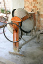 Cement mixer photo of on a site Royalty Free Stock Photography