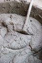 Cement or mortar is inside cement mixer cement or mortar is mix Stock Images