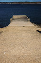 Cement ramp a in the harbor Royalty Free Stock Photos