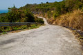 Cement road on hill at chonburi thailand Royalty Free Stock Photo