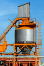 Cement silo outdoors Royalty Free Stock Photo