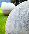 Cement sphere zen garden Stock Photography