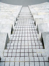 Cement stairs going down Royalty Free Stock Photo