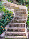 Cement stairs. Royalty Free Stock Photo